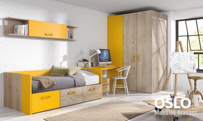 Compacto individual, escritorio y armario