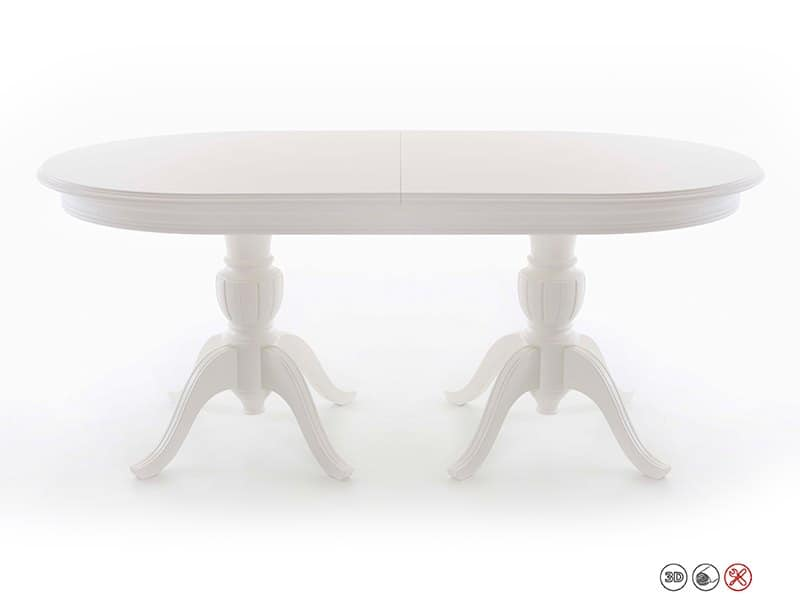 Mesa extensible en color blanco