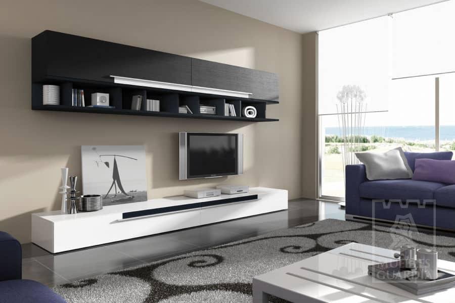 Mueble  lacado en blanco y negro