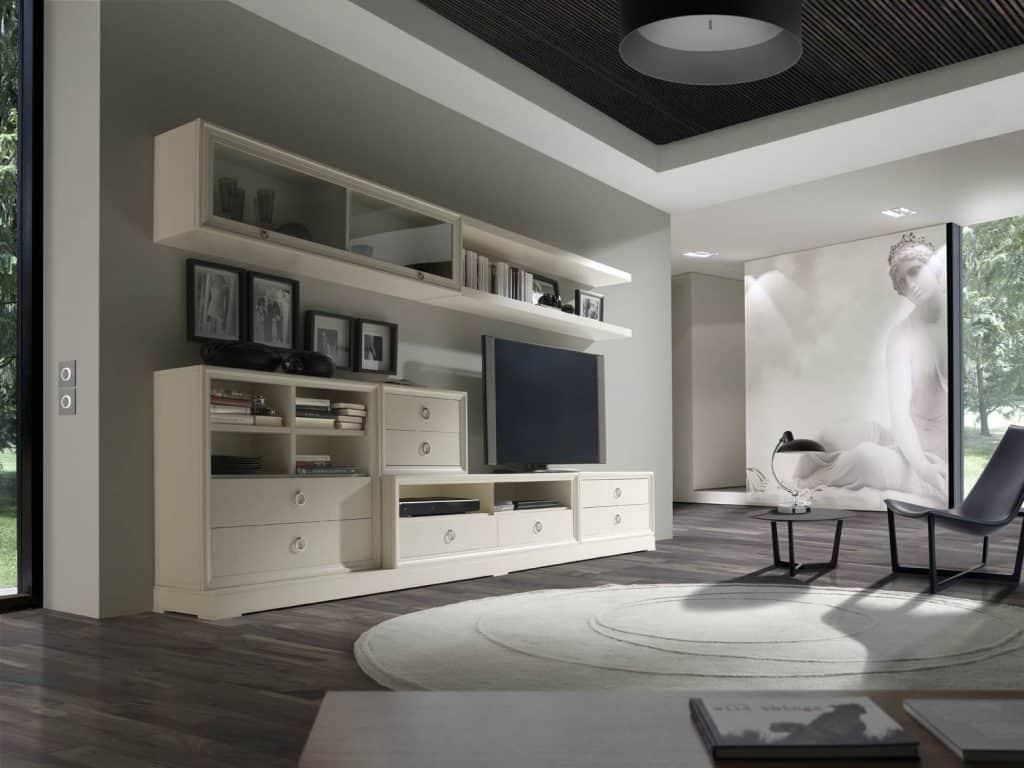 Muebles de salón lacado en color lino