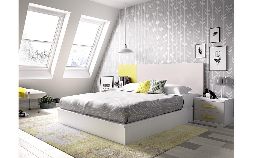Muebles de diseño limpio. Detalles en amarillo