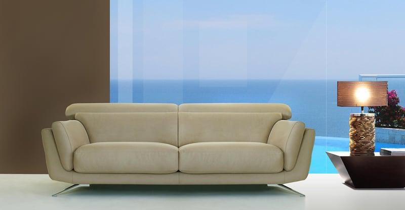 Sofá 2 plazas y asientos deslizantes
