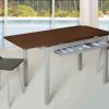Mesa extensible con cajon cubiertos