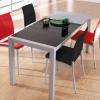 Mesa extensible de cocina aiberta, en negro