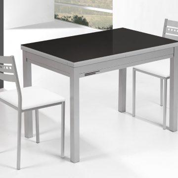 Mesa extensible de cocina negr