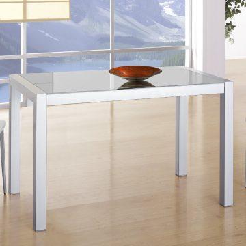 Mesa extensible blanca de cocina