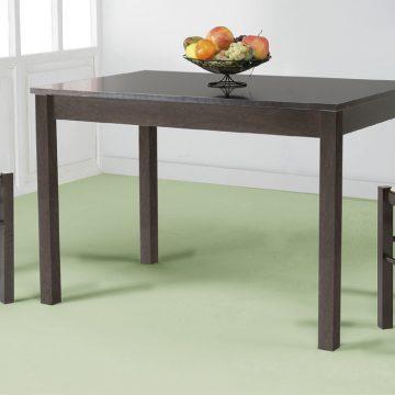 Mesa de cocina de madera oscura