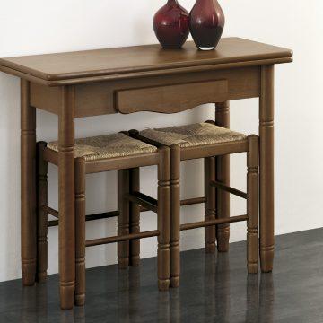 Mesa libro de madera