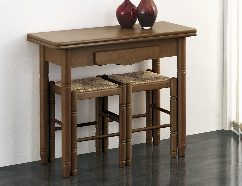 Pequeña mesa libro de madera plegada