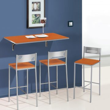 Mesa plegable de pared naranja