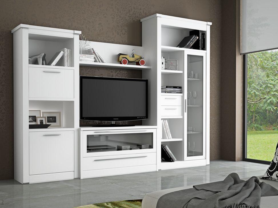 Mueble de televisión de estilo clásico